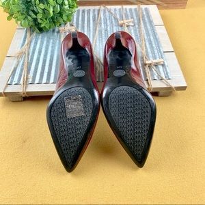 Michael Kors Shoes - Michael Kors Patent Leather Heel Pumps, Burgundy 6